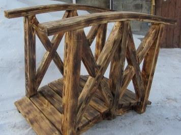 Декоративный деревянный мостик для сада, дачи, усадьбы