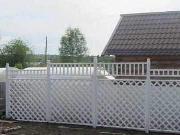 Деревянный решетчатый забор для дома, дачи, садового участка