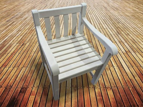 Деревянное кресло из берёзы для сада, дачи, веранды, кемпинга
