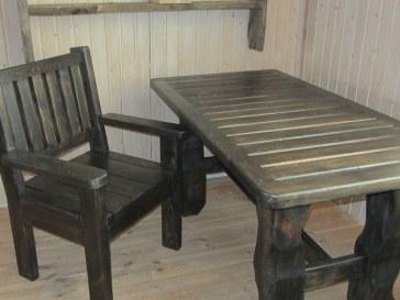 Деревянный стол, стулья, кресла в баню, на дачу или базу отдыха