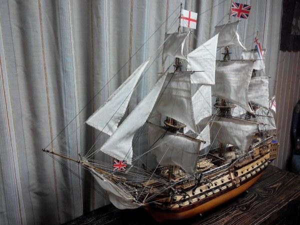 Линейный парусный корабль «Victory» – Виктория. Точная копия, модель музейного качества из дерева