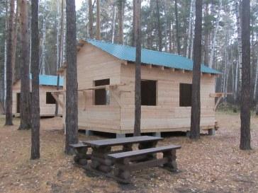 Дачный деревянный тёплый домик для кемпинга, зоны отдыха, туристического лагеря